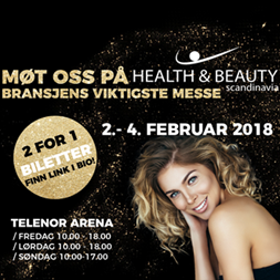 Møt oss på Health & Beauty messen 2018